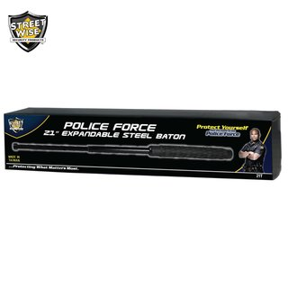 Police Force 21 Inch Expandable Steel Baton