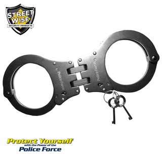 Police Force Heat Treated Hinged Stainless Steel Handcuff